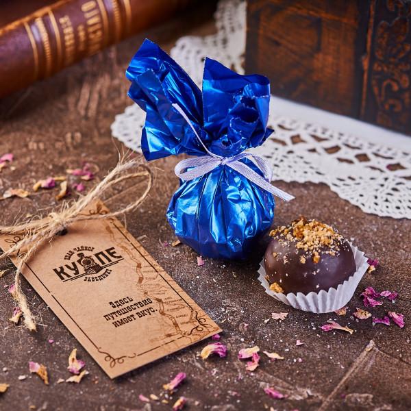 ГОЛУБОЙ ДУНАЙ. Пастильная конфекта в темном шоколаде. Фото