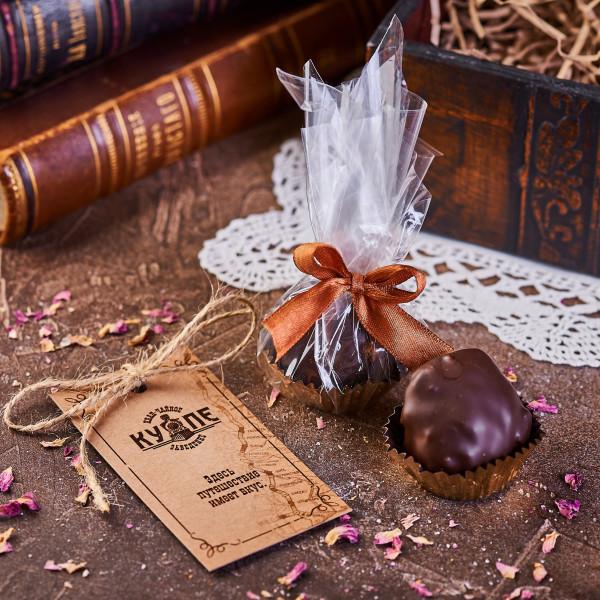 ТРЮФЕЛЬ. Пастильная конфекта из смоквы в темном шоколаде. Фото
