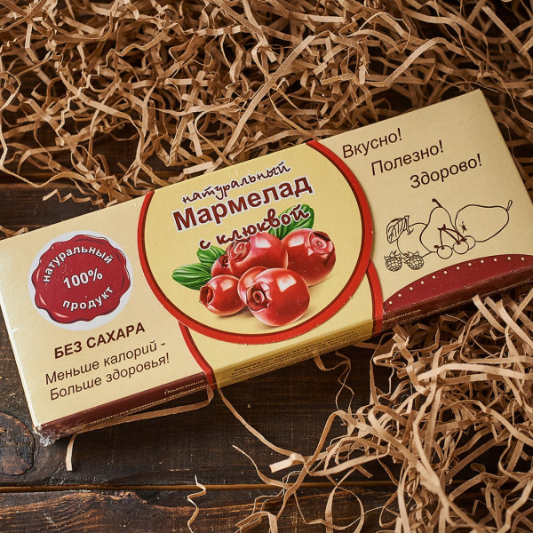 Мармелад без сахара с Клюквой. Фото